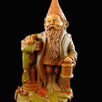 "Vintage, Tom Clark, ""Father Time"", Handcrafted, Gnome Figurine, Hand Signed, With COA, By Cairn Studios"