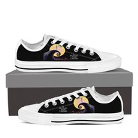 Ladies Nightmare Before Christmas- Low Tops- Black/White