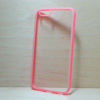 Silicone Bumper and Clear Hard Plastic Back Case for iPhone 6 (4.7 inches) - Watermelon