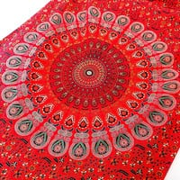 SMALL red mandala hippie wall hanging tapestry indian bedspread bohemian boho bedding throw ethnic wall home decor