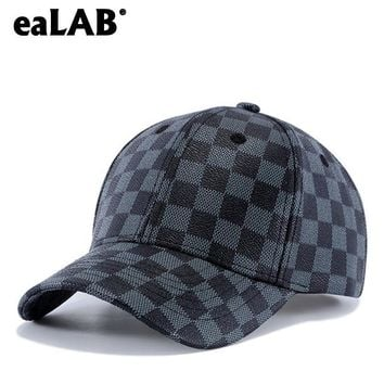 Trendy Winter Jacket eaLAB Leather Baseball Cap Men Dad Hat Women Summer Hat Female Sport Casual Bones Cap PU Leather Hat Unisex Fitted Snapback Caps AT_92_12