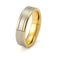 Mens Yellow Gold Wedding Band Tungsten Carbide 6mm 18k Tungsten Ring High Polished Male Engagement Ring Man Anniversary Promise His Hers Matching