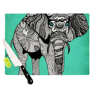 "Pom Graphic Design ""Elephant of Namibia Color"" Cutting Board"