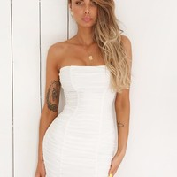 Buy Our Sansa Dress in White Online Today! - Tiger Mist