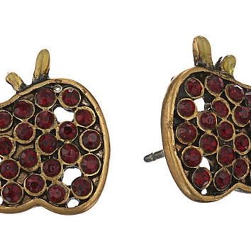 Marc Jacobs Charms Apple Studs Earrings