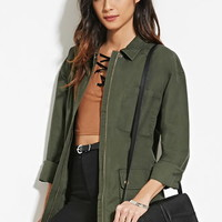 Buttoned Pocket Utility Jacket