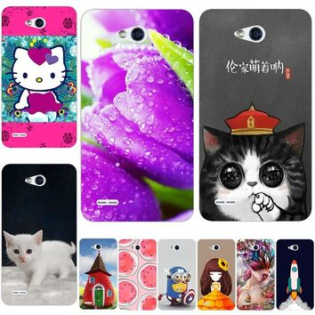 New Hello Kitty juventus leeco marvel Cat Phone Back Cover Case For LG Optimus L80 Dual D380 D385 Case For LG L80 Phone Cover