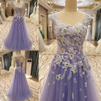 Elegant Beaded Lace Tulle Luxury Prom Dresses Long Evening Dress Corset Tulle Sexy Women Pageant Gowns 2017 Party Dresses