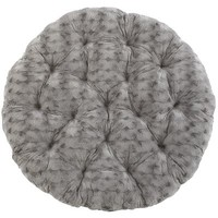 Papasan Cushion - Fuzzy Charcoal