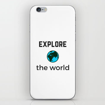EXPLORE THE WORLD iPhone Skin by Love from Sophie