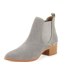 Diaz Perforated Suede Ankle Boot, Gray - Donald J Pliner - Gray