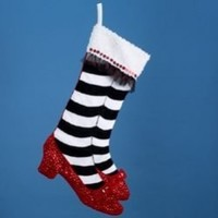 "20"" Wizard of Oz Legs & Ruby Red Slippers Christmas Stocking"