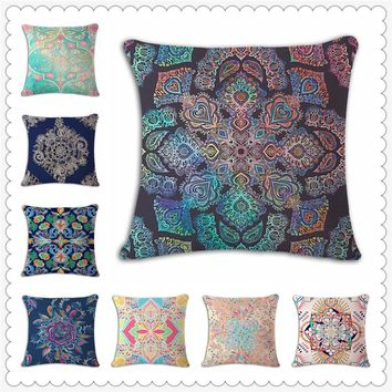 Floral Decorative Throw Pillows Cover Decor Home Cushion Cover Flower For Sofa Scandinavian Fundas Cojines Decorativos e1303
