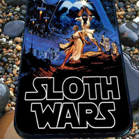 Sloth Wars for iPhone 4/4s, iPhone 5/5S/5C/6, Samsung S3/S4/S5 Unique Case *76*