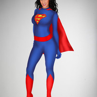Supergirl Zentai Body Suit