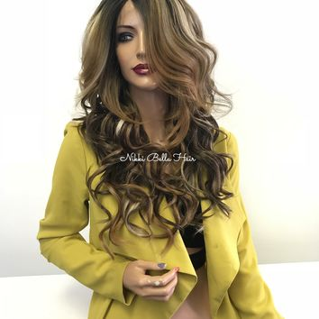Balayage blond lace front wig - Unforgettable