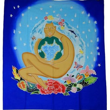 Goddess Gaia Hand Batiked Wall Hangings
