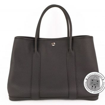 Authentic New Hermes Garden Party 36 Noir Negonda Tote Bag Phw stamp A