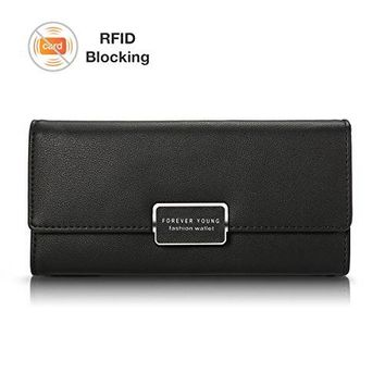 Women Clutch WalletCharminer RFID Blocking Multi Card Organizer WalletPhone Clutch f For Daily Working Traveling