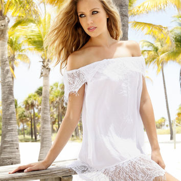 Peixoto White Lace Beach Dress