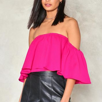 Time Out Off-the-Shoulder Top
