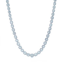 Tiffany & Co. - Lucida® diamond necklace in platinum.