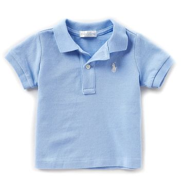 Ralph Lauren Childrenswear Baby Boys 3-24 Months Short-Sleeve Polo Shirt | Dillards