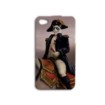 Funny Grumpy Cat Riding Horse Napoleon Cute Phone Case iPhone 4 5 5c 5s 6 6s Hot