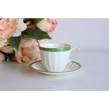 Vintage 1960s Crown Ducal Demitasse Cup and Saucer