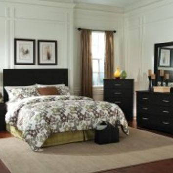 Bolden Bedroom Set with Headboard, Dresser, Mirror, Chest, Nightstand