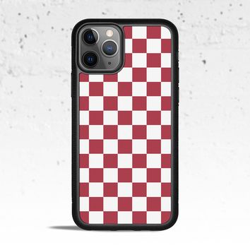 Checkerboard Maroon Phone Case Cover for Apple iPhone Samsung Galaxy S & Note