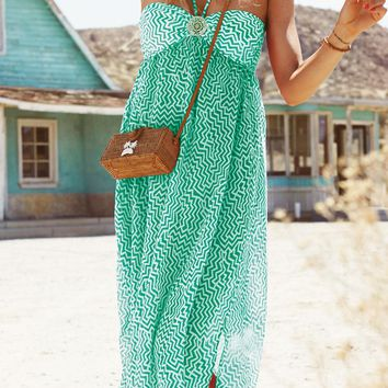 Watercult 2015 Malibu Cove Green Dress 3004-046-344