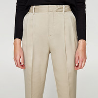 HIGH RISE TROUSERS WITH DARTS