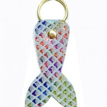Keychains - Mermaid Tail Keychain in Iridescent