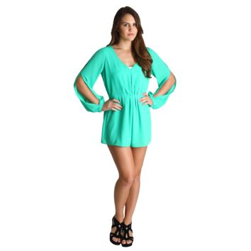 Umgee Emerald Eva Long Sleeve Romper