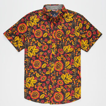 Roark Sacred Eye Mens Shirt Yellow  In Sizes