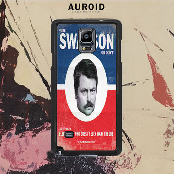 Vote Ron Swanson Samsung Galaxy Note 4 Case Auroid