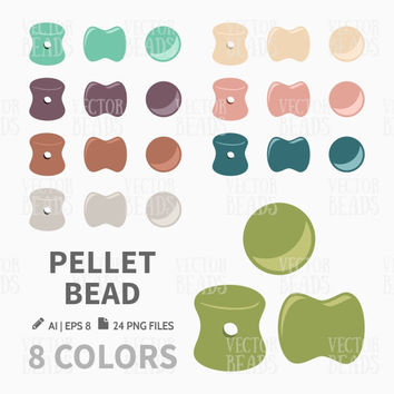 Pellet Bead Clip Art. Bead Vector Graphic, Vector illustration of beads