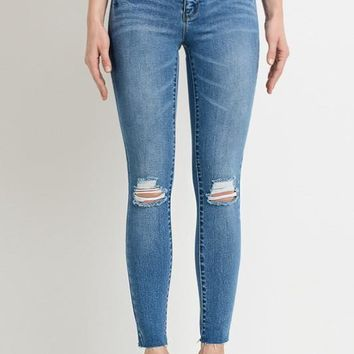 Lightly Distressed Medium Wash Jean