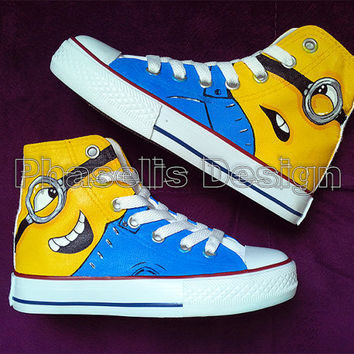 Despicable Me Minions Painted Shoes Custom Shoes