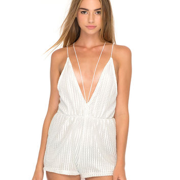 Ibla Strappy Playsuit in High Rise Summer Shimmer by Motel