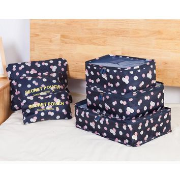 6pcs/set Cosmetic Bag for Women Men Travel Bag Waterproof High Capacity Luggage Clothes Tidy Portable Organizer Cosmetic Case