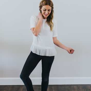 Emery Blouse in Ivory