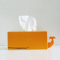 Whale Tissue Holder - Orange - Ships July 27th