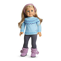 American Girl® Clothing: Frosty Fair Isle Set for Dolls + Charm