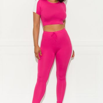 Cross the Line  Set - Hot Pink