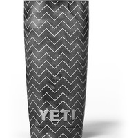 Black Watercolor with White Chevron Yeti Rambler Skin Kit