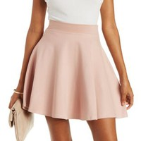 Blush Ponte Knit Skater Skirt by Charlotte Russe
