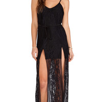 For Love & Lemons Longhorn Maxi in Black