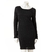 Jennifer Lopez Sequin Boucle Sheath Dress